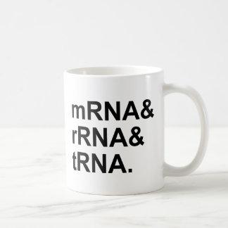 tipos del tRNA el | del rRNA del mRNA de ARN Taza De Café