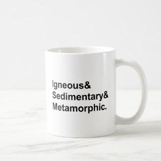 Tipos metamórficos sedimentarios ígneos del | de taza clásica