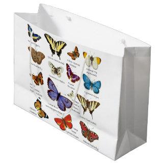 Tipos populares de los ilustraciones a todo color bolsa de regalo grande
