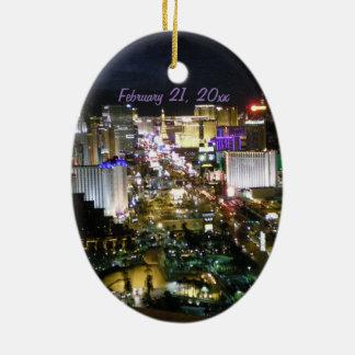 Tira de Las Vegas personalizada Adorno Ovalado De Cerámica