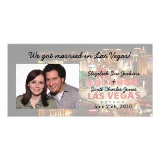 Tira de Las Vegas somos tarjetas casadas de la fot Tarjetas Fotográficas