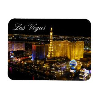 Tira de Las Vegas, visión aérea, luces de la noche Imanes Rectangulares