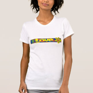 Tira del amor del Grunge Camisetas