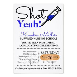 ¡Tirado sí! La graduación azul de la escuela de Invitación 12,7 X 17,8 Cm