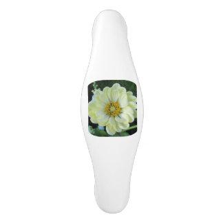 Tirador De Armario De Cerámica Flor amarilla clara de la dalia