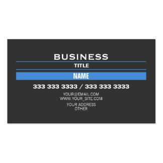 Tiras azules tarjetas de visita