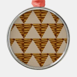 TIRAS DE ORO del triángulo de arte del VINTAGE Ornamento De Navidad