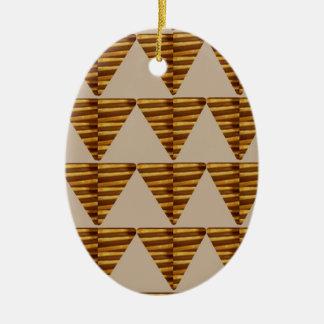 TIRAS DE ORO del triángulo: de arte del VINTAGE Ornamento De Navidad