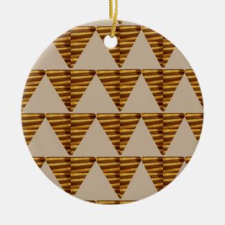 TIRAS DE ORO del triángulo: de arte del VINTAGE Ornamento Para Arbol De Navidad