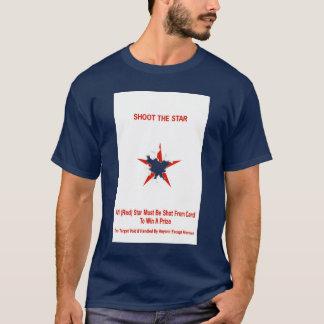 Tire la camiseta de la tarjeta de la blanco de la