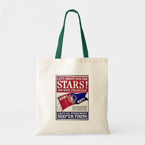 Tiremos para las estrellas en nuestro banderín bolsa de mano