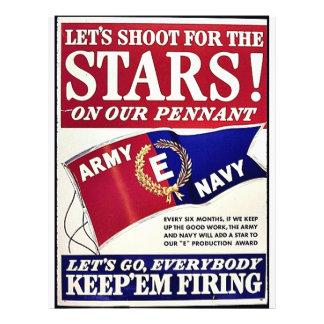 Tiremos para las estrellas en nuestro banderín folleto 21,6 x 28 cm
