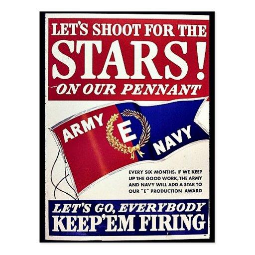 Tiremos para las estrellas en nuestro banderín postal