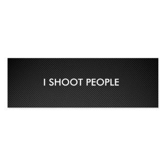 Tiro a la gente - fotógrafo profesional plantilla de tarjeta de negocio