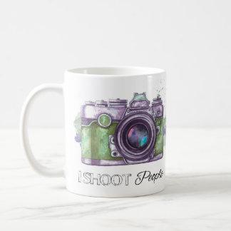 Tiro a la gente, taza del regalo de la fotografía