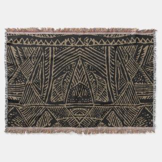 Tiro africano de la impresión manta