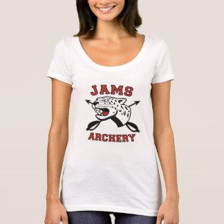 tiro al arco T del escote redondo de las mujeres Camiseta