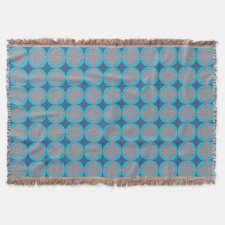 Tiro azul del edredón del diamante manta