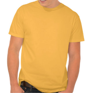 Tiro de jabalina amarillo-naranja camisetas