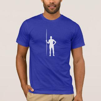 Tiro de jabalina azul camiseta