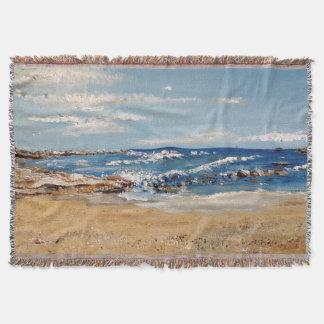 Tiro de la impresión del arte de la costa oeste manta