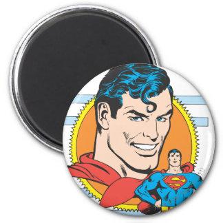 Tiro principal del superhombre imán redondo 5 cm