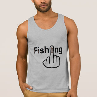 Tirón de la pesca de las camisetas sin mangas