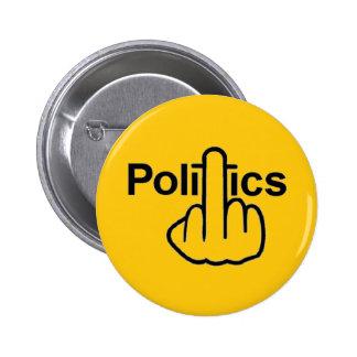 Tirón de la política del botón pins
