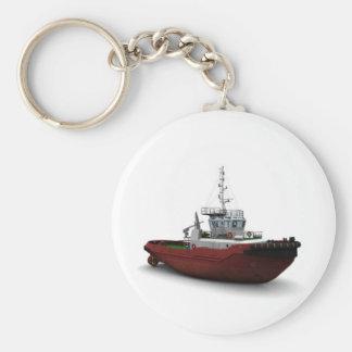 Tirón del mar llavero redondo tipo chapa