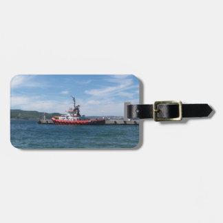 Tirón en puerto etiqueta para equipaje