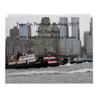 Tirones en el río Hudson 2017 Calendario De Pared