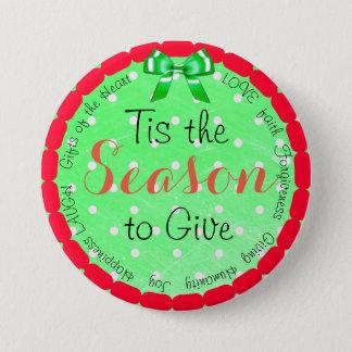 Tis la estación para dar el botón del navidad