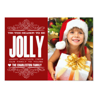 Tis la tarjeta de la foto de familia del día de invitación 12,7 x 17,8 cm