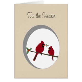 'Tis las tarjetas de felicitación de la estación