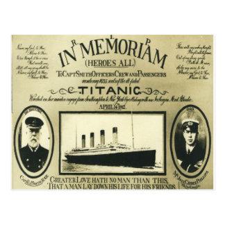 Titánico en la postal de Memoriam