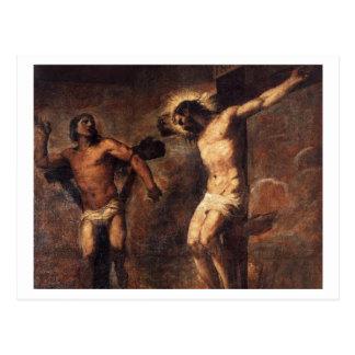 Titian Cristo y el buen ladrón Postal