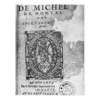 Titlepage de la primera edición de 'Essais Postal