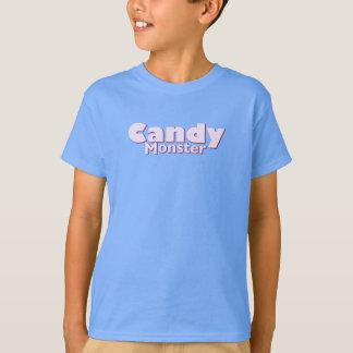 Título de la camiseta del niño del monstruo del