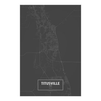 Titusville, Florda (blanco en negro) Póster