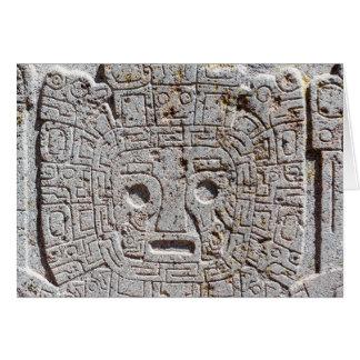 Tiwanaku Face Tarjeta Pequeña
