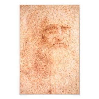 Tiza del rojo del autorretrato de Leonardo da Foto