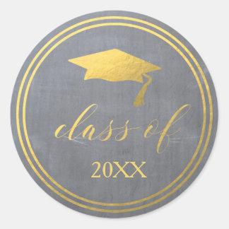 Tiza y falso sello del sobre de la graduación de