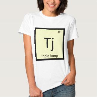 Tj - símbolo de la química del atletismo de la camiseta