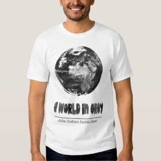 A world in grey. John Dalton. Camiseta