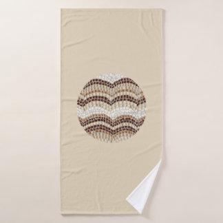 Toalla de baño beige redonda del mosaico