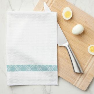 Toalla de cocina azul simple elegante del té de la