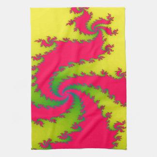 Toalla de cocina china del fractal del dragón del