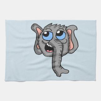 Toalla de cocina de la cabeza del elefante del