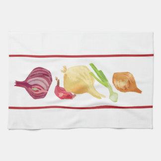 Toalla de cocina de la cebolla