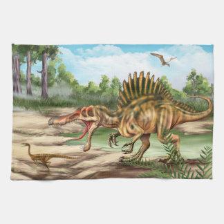 Toalla de cocina de la especie del dinosaurio